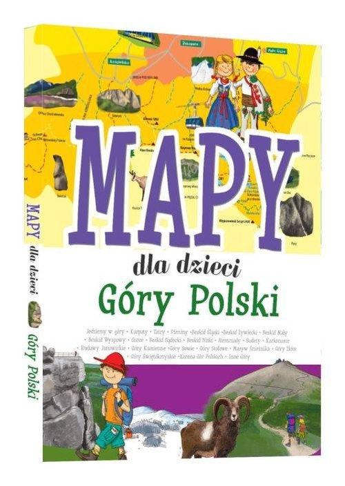 Mapy dla dzieci Góry Polski - okładka książki