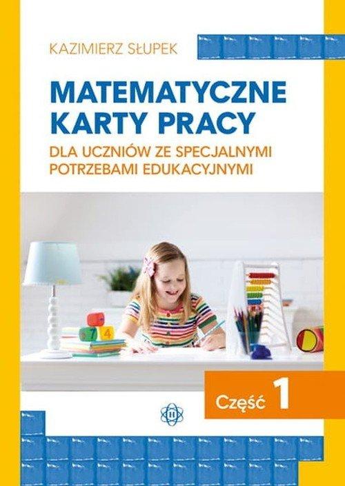Matematyczne karty pracy dla uczniów - okładka podręcznika
