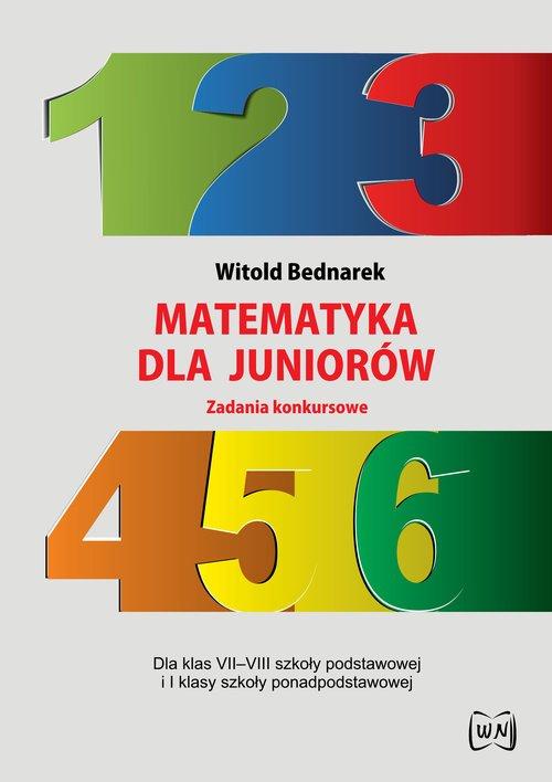 Matematyka dla juniorów Zadania - okładka podręcznika