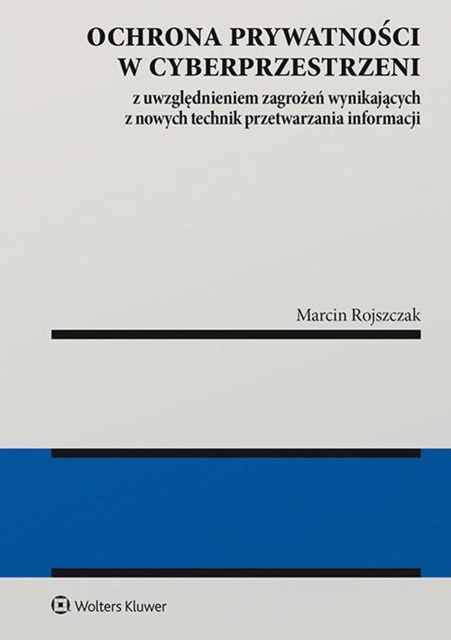 Ochrona prywatności w cyberprzestrzeni - okładka książki