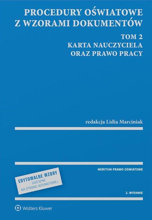 Procedury oświatowe z wzorami dokumentów. - okładka książki
