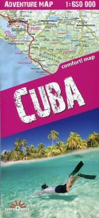 Adventure map Cuba 1:650 000 - okładka książki