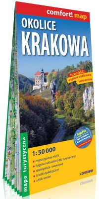 Comfort!map Okolice Krakowa 1:50 - okładka książki