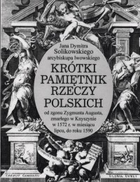 Jana Dymitra Solikowskiego arcybiskupa - okładka książki