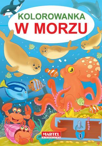 Kolorowanka w morzu - okładka książki