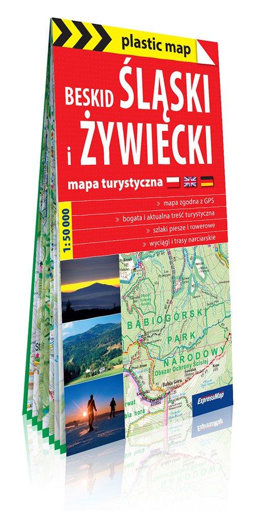 Plastic map Beskid Ślaski i Żywiecki - okładka książki