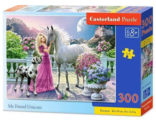 Puzzle 300. Mój przyjaciel Jednorożec - zdjęcie zabawki, gry