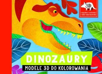 Dinozaury. Modele 3D do kolorowania - okładka książki
