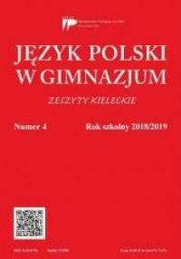 Język Polski w Gimnazjum nr 4 2018/2019 - okładka podręcznika
