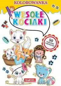 Kolorowanka. Wesołe kociaki - okładka książki