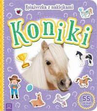 Koniki Książeczka z naklejkami - okładka książki