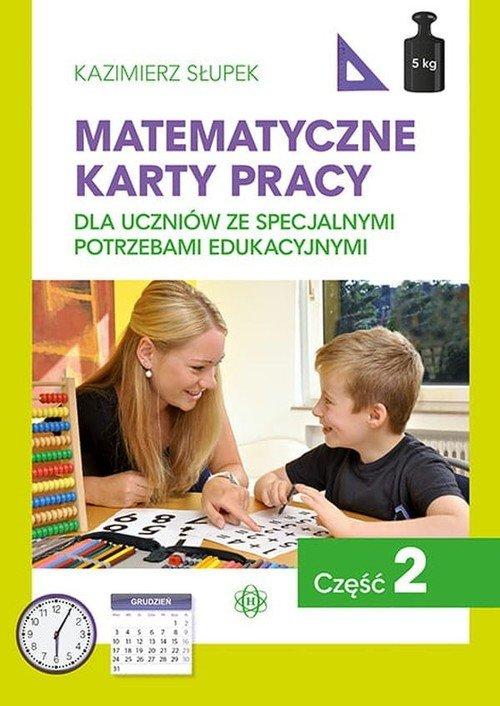 Matematyczne karty pracy cz. 2 - okładka książki
