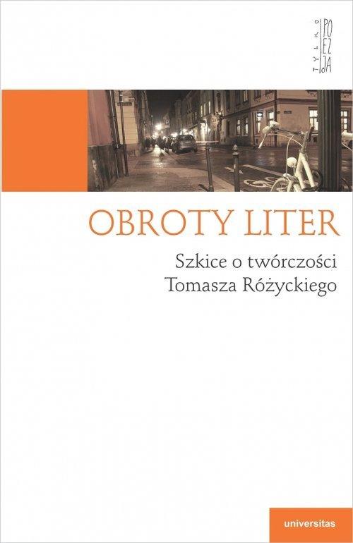 Obroty liter. Szkice o twórczości - okładka książki