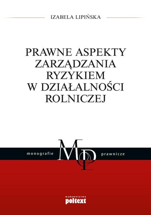Prawne aspekty zarządzania ryzykiem - okładka książki