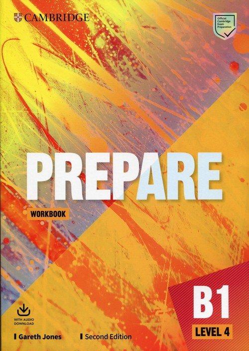 Prepare 4 B1 Workbook with Audio - okładka podręcznika