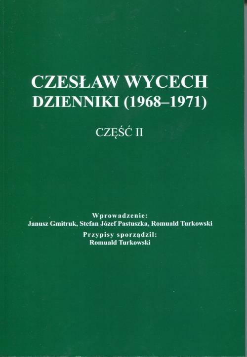 Czesław Wycech. Dzienniki (1968-1971) - okładka książki
