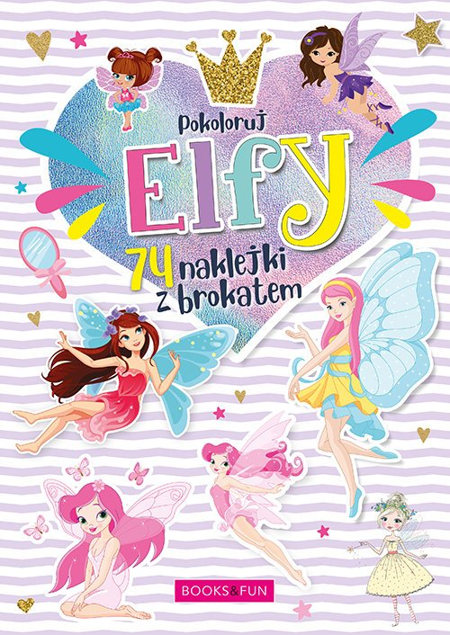 Kolorowanka Elfy plus naklejki - okładka książki