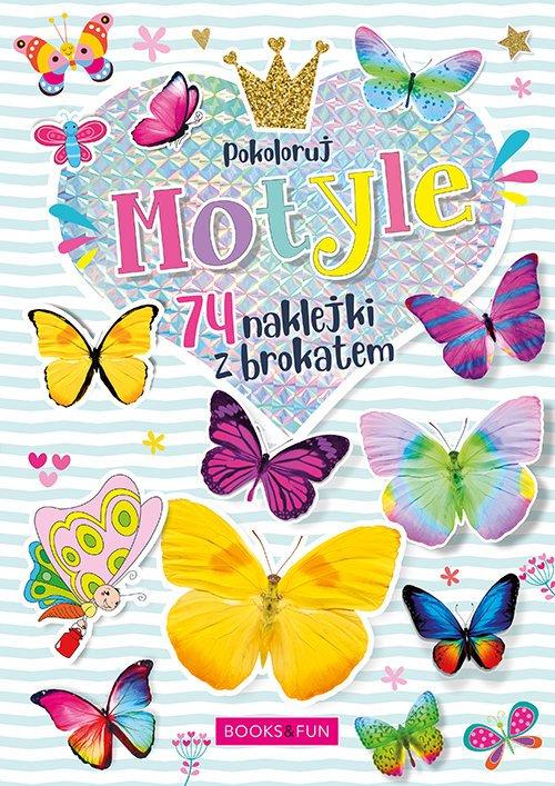Kolorowanka Motyle plus naklejki - okładka książki