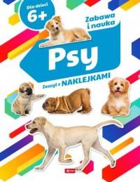 Psy. Zeszyt z naklejkami - okładka książki