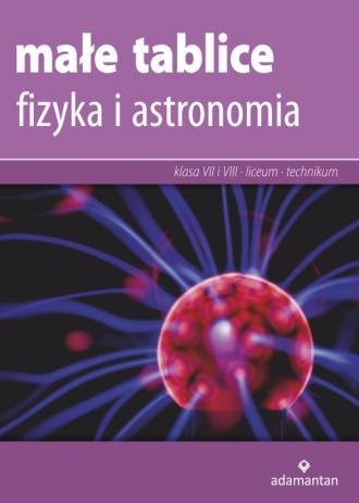 Małe tablice. Fizyka i astronomia - okładka podręcznika