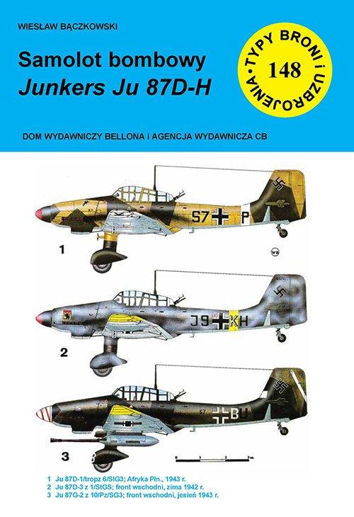 Samolot bombowy Junkers Ju 87 D-H - okładka książki