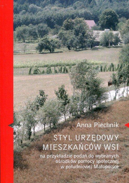 Styl urzędowy mieszkańców wsi na - okładka książki