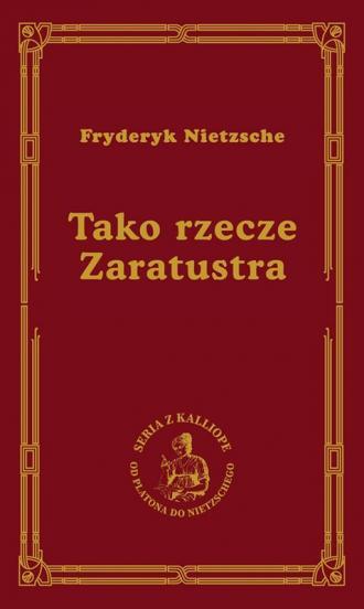 Tako rzecze Zaratustra - okładka książki