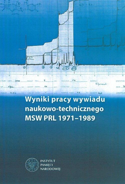 Wyniki pracy wywiadu naukowo-technicznego - okładka książki