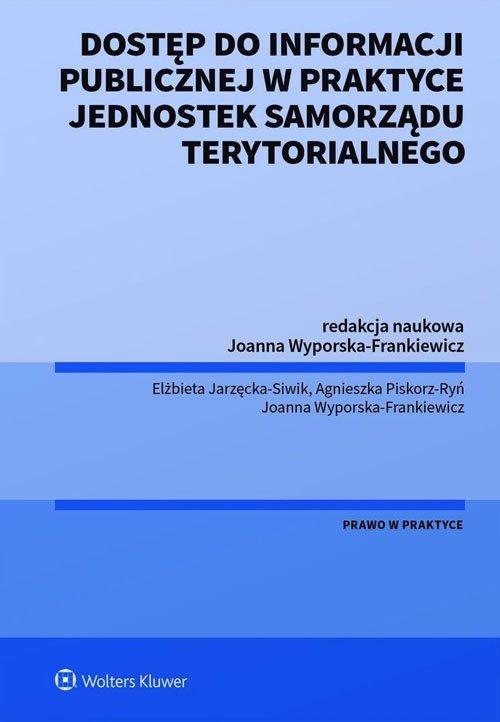 Dostęp do informacji publicznej - okładka książki