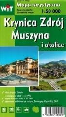 Mapa turystyczna - Krynica Zdrój, - okładka książki