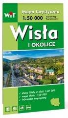 Mapa turystyczna - Wisła i okolice - okładka książki
