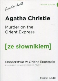 Murder on the Orient Express Morderstwo - okładka podręcznika