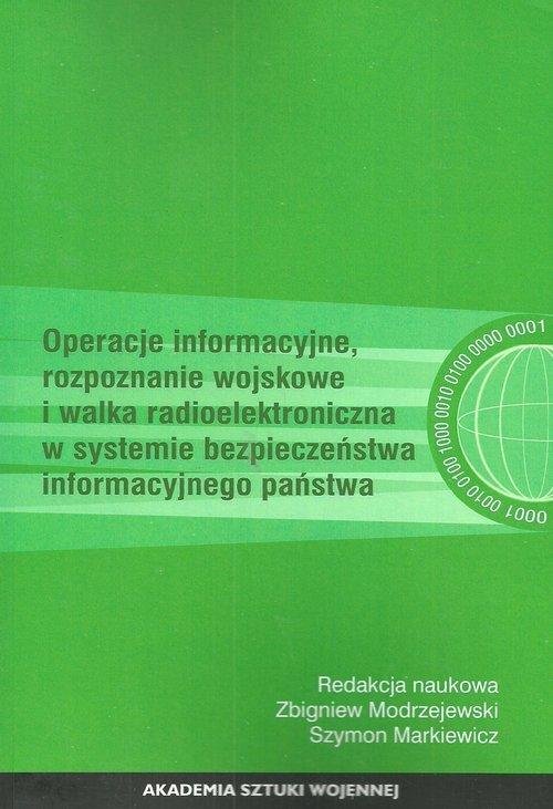 Operacje informacyjne, rozpoznanie - okładka książki