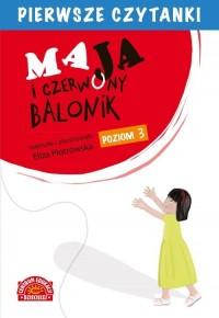 Pierwsze czytanki. Maja i czerwony - okładka książki