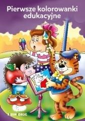 Pierwsze kolorowanki edukacyjne - okładka książki