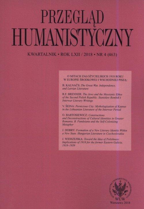 Przegląd Humanistyczny 2018/04 - okładka książki