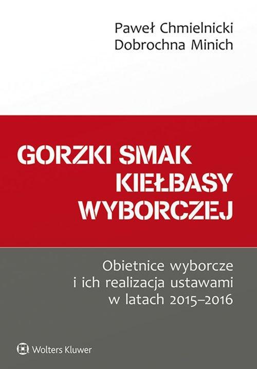 Gorzki smak kiełbasy wyborczej. - okładka książki