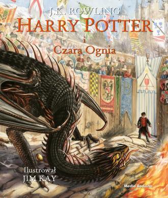 Harry Potter i Czara Ognia (ilustrowana) - okładka książki