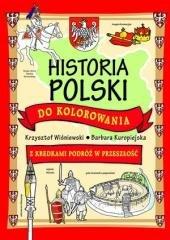 Historia Polski do kolorowania - okładka książki