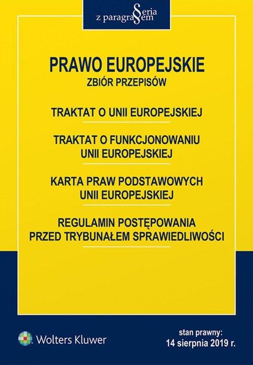 Prawo Europejskie. Zbiór przepisów - okładka książki