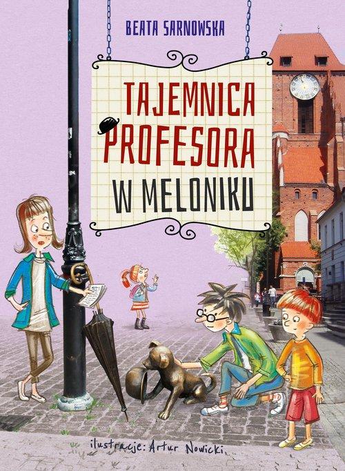 Tajemnica profesora w meloniku - okładka książki
