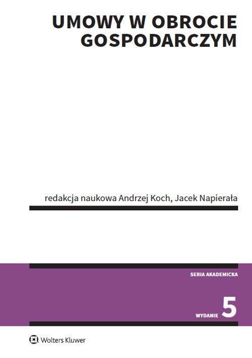 Umowy w obrocie gospodarczym - okładka książki