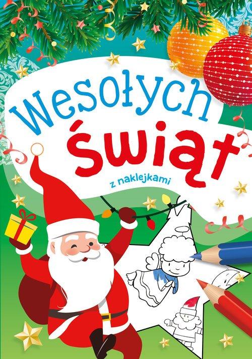 Wesołych Świąt z naklejkami - okładka książki
