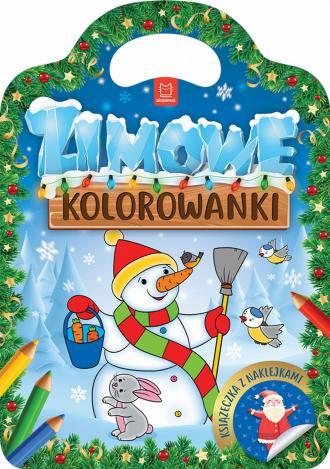 Zimowe kolorowanki - okładka książki
