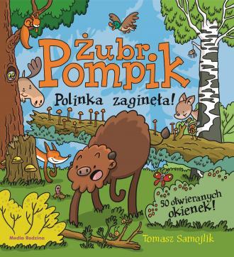 Żubr Pompik. Polinka zaginęła. - okładka książki