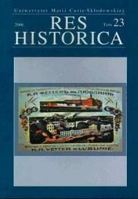 Res Historica. Tom 23/2006 - okładka książki