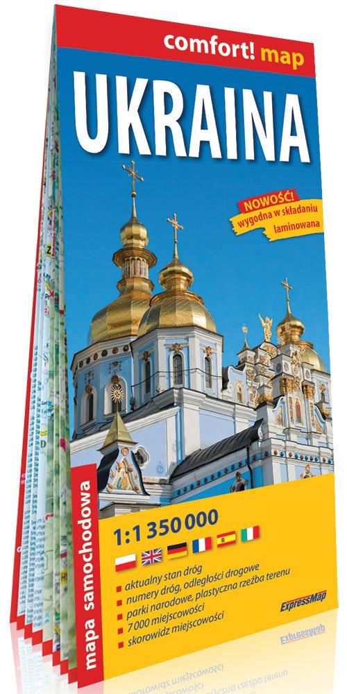 Comfort! map Ukraina 1:1 350 000 - okładka książki