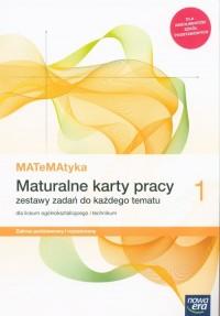 MATeMAtyka. Liceum 1 ZPR. Maturalne - okładka podręcznika
