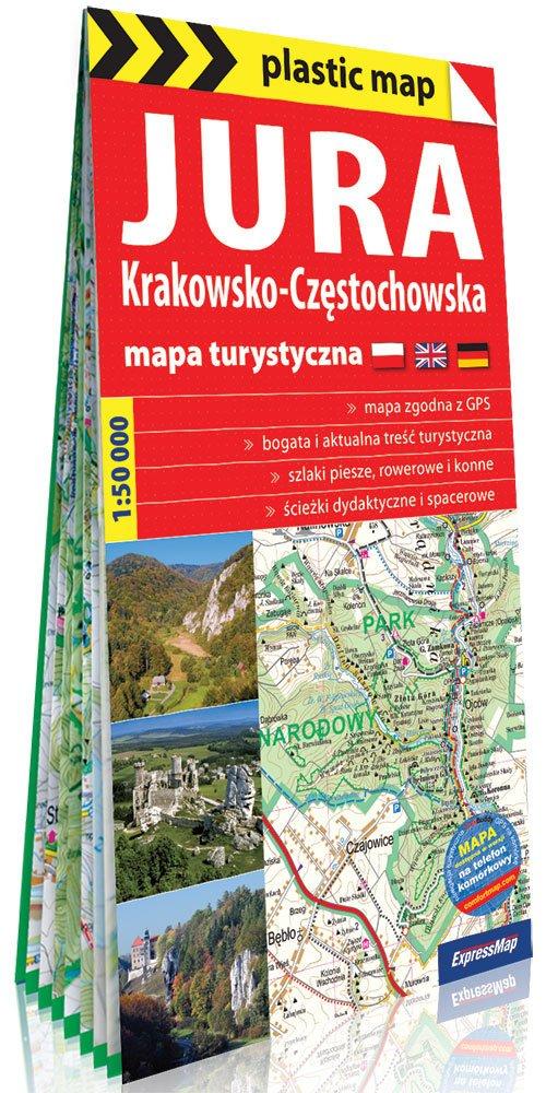 Plastic map Jura Krakowsko-Częstochowska - okładka książki