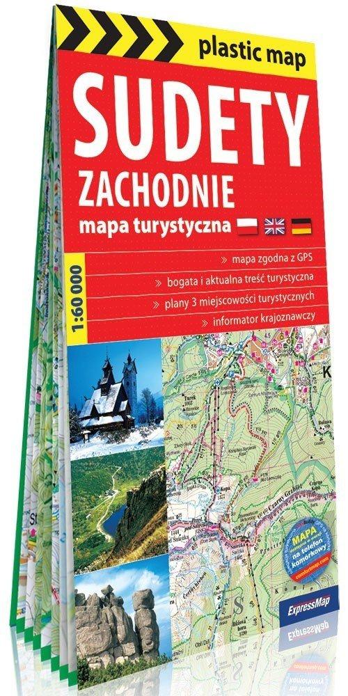 Plastic map Sudety Zachodnie mapa - okładka książki